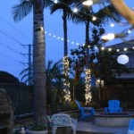 Brighten up the yard with strings of lights