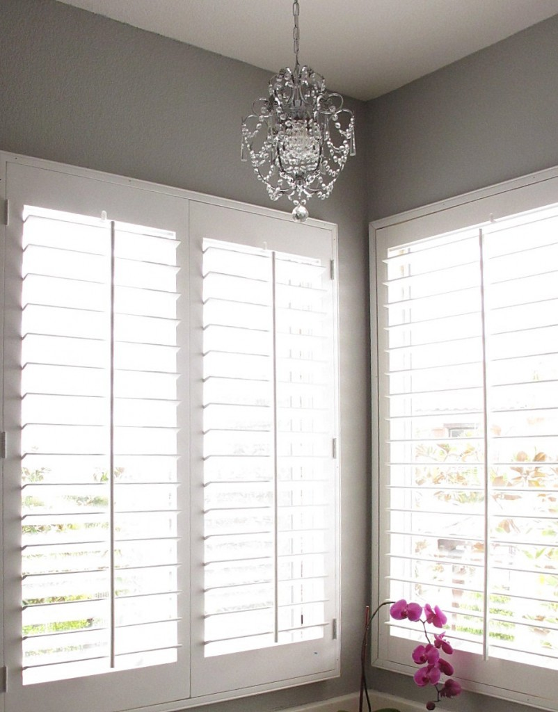 new shutters for the master bathroom