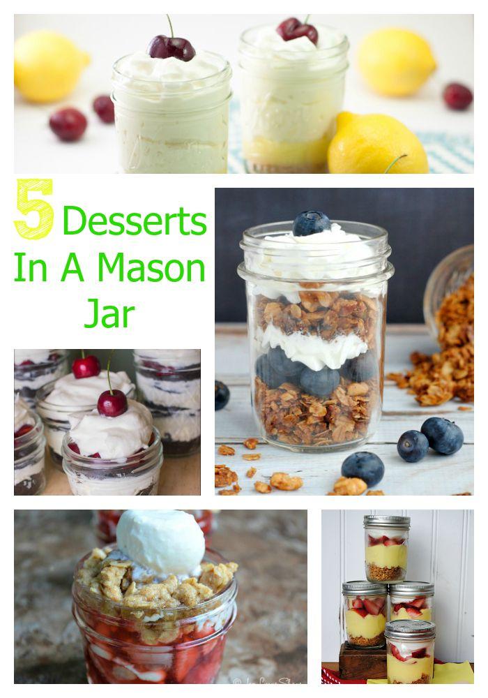 5 Desserts in a Mason Jar