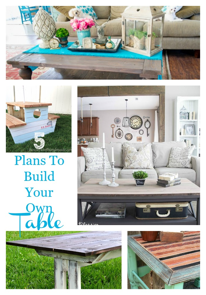 5 plans to build your own table
