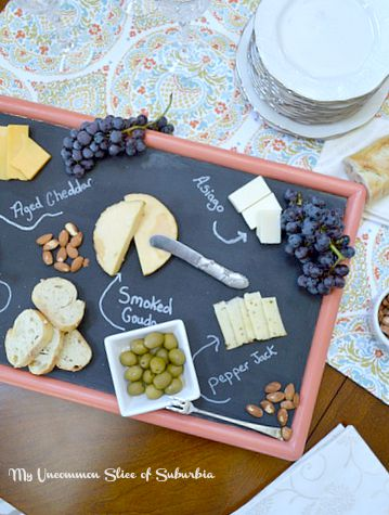 Cheeseboard Tray Made from a old TV Tray
