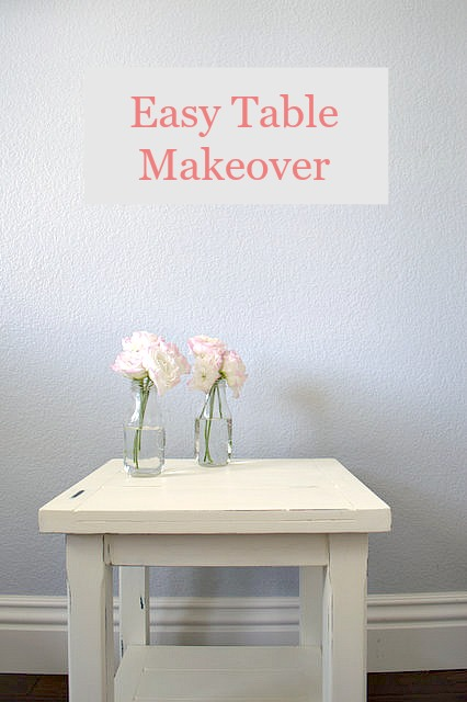 Easy Table Makeover with step by step directions