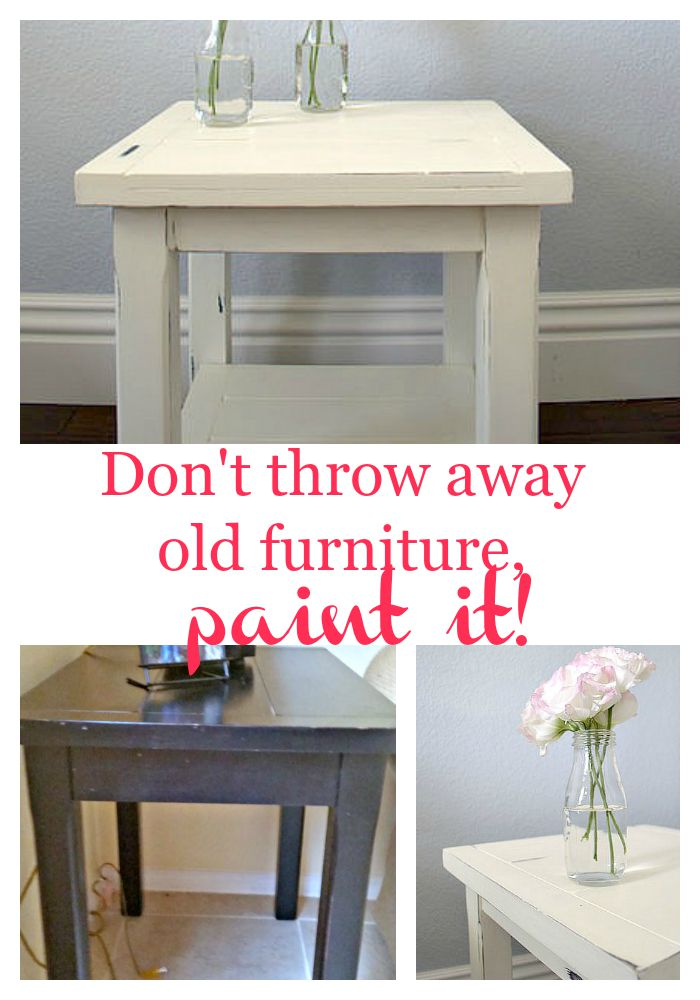 Paint furniture don't throw it away, step by step tutorial