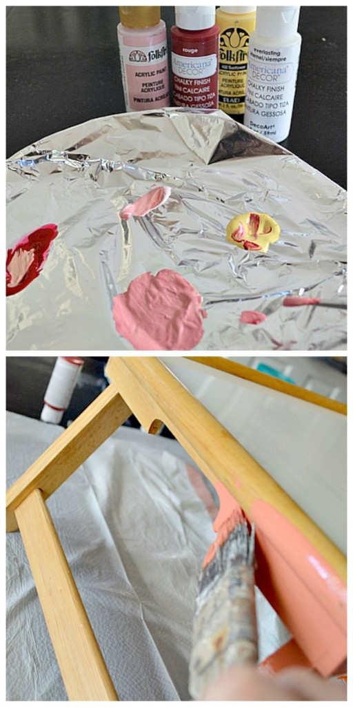Painting a TV Tray