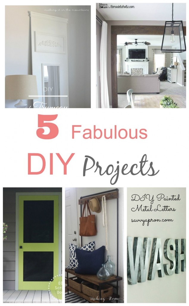5 Fabulous DIY Projects you can do in a day