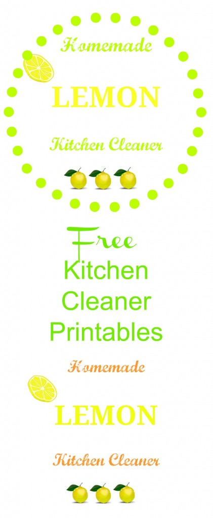 Free Kitchen Cleaner printable