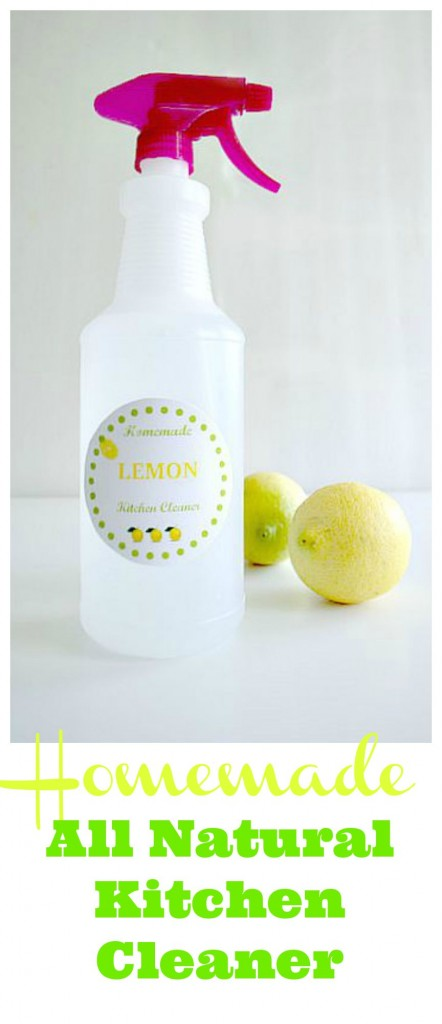 How to Make homemade all natural kitchen cleaner with 3 simple ingredients!