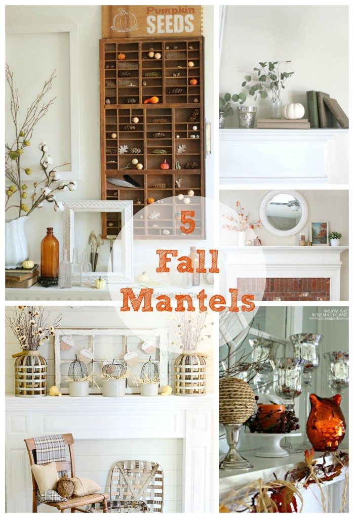 5 beautiful mantels decorated for fall