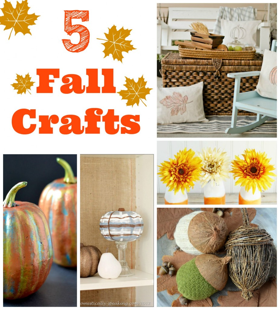 5 fall crafts