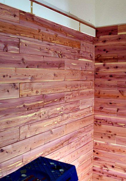 Cedar Planked walls