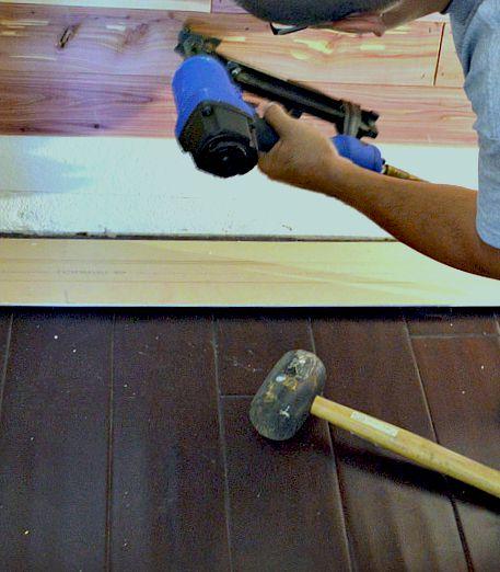 How to install cedar planks