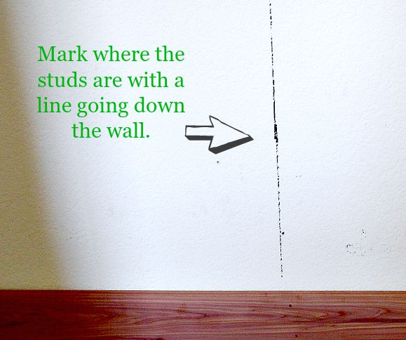 Mark your wall with a marker to know where the studs are before nailing anything in.