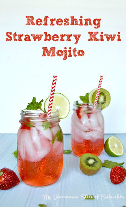 Refreshing Strawberry Kiwi Mojito