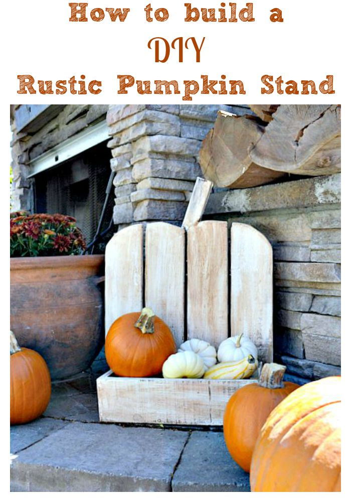 Step by step tutorial How to build a DIY Rustic Pumpkin Stand