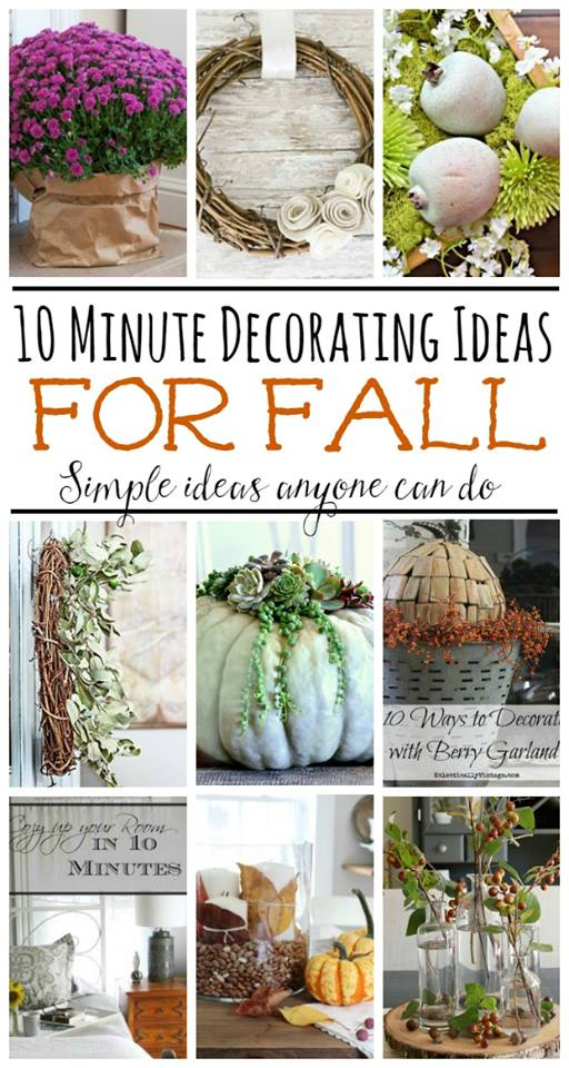 10 minute decorating ideas for fall, this is so perfect if you are short on time