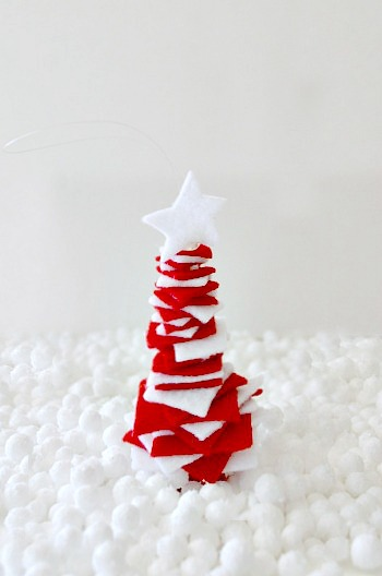 Christmas tree ornament for collage