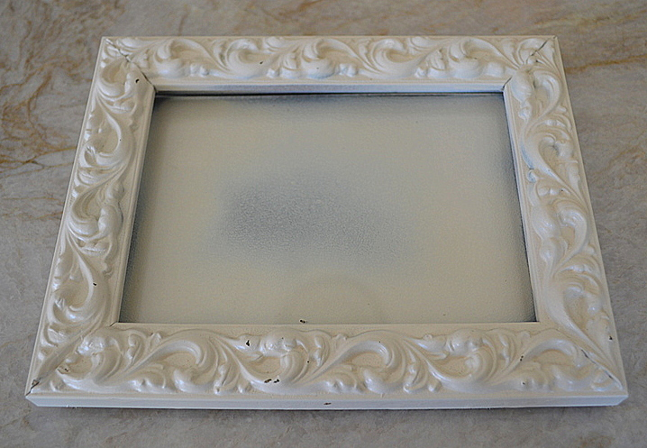 How to turn a picture frame into a jewelry display