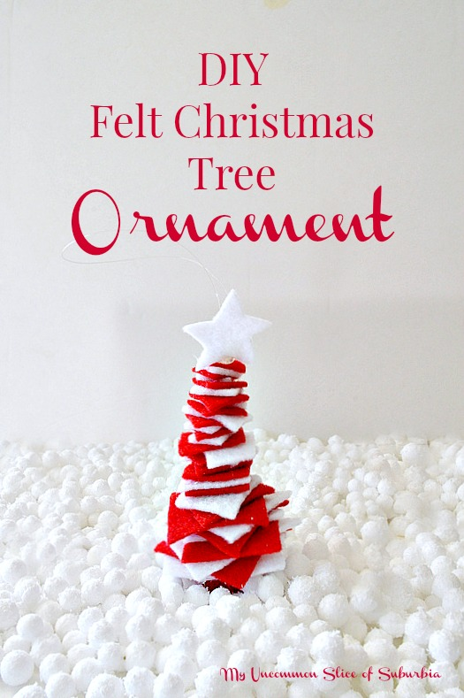 How to make a felt christmas tree ornament, simple tutuorial