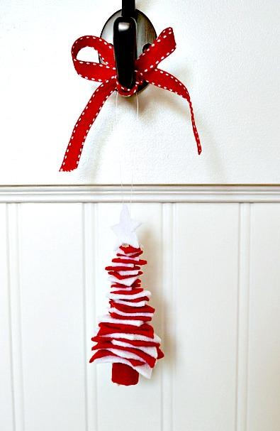 How to make a felt christmas tree ornament
