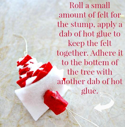 How to make a felt ornament christmas tree