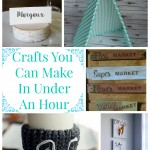 Beautiful crafts you can make in under an hour