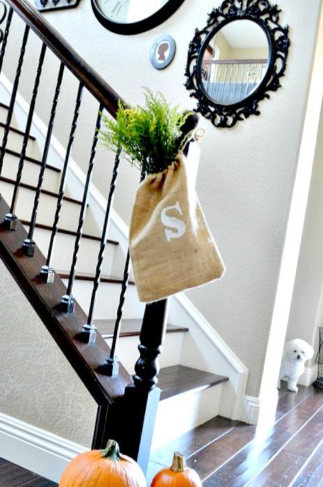 Burlap bag for Fall