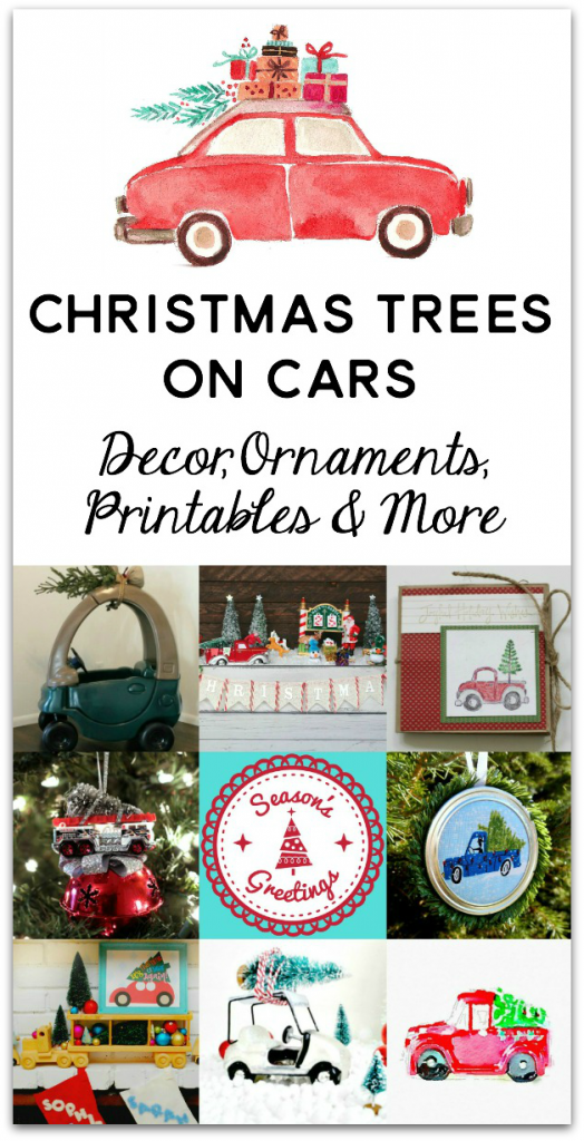 Christmas Trees on Cars Graphic 1