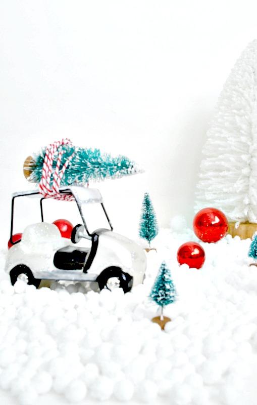 Golf Cart Carrying a tree