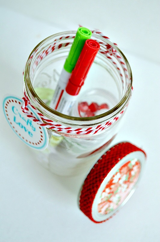 Mason jar gift full of crafts
