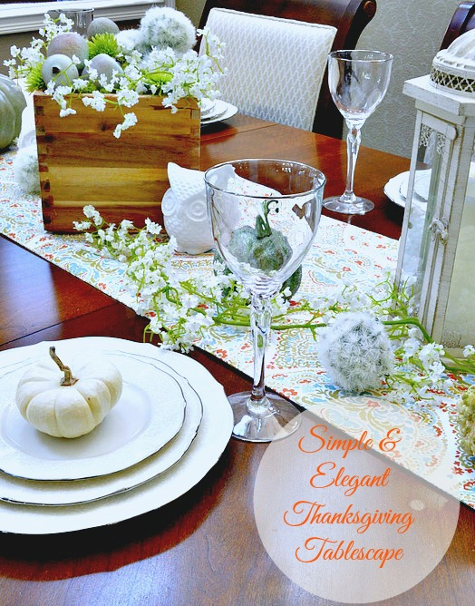 Pretty Fall Tablescape, very simple and elegant
