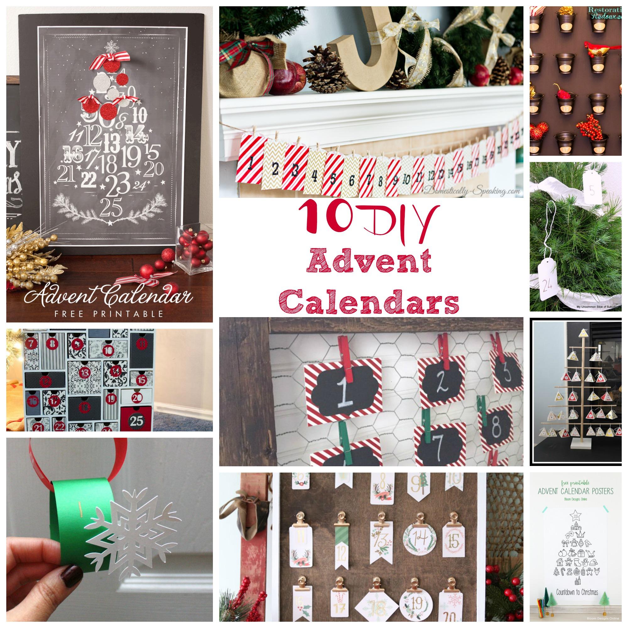 10 DIY advent Calendars