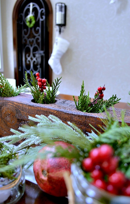 Beautiful Rustic Tablescape for Christmas