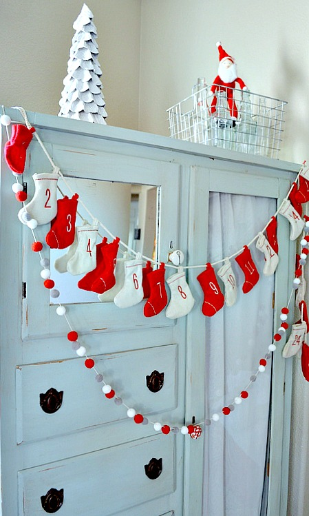 Christmas Vignette with stockings