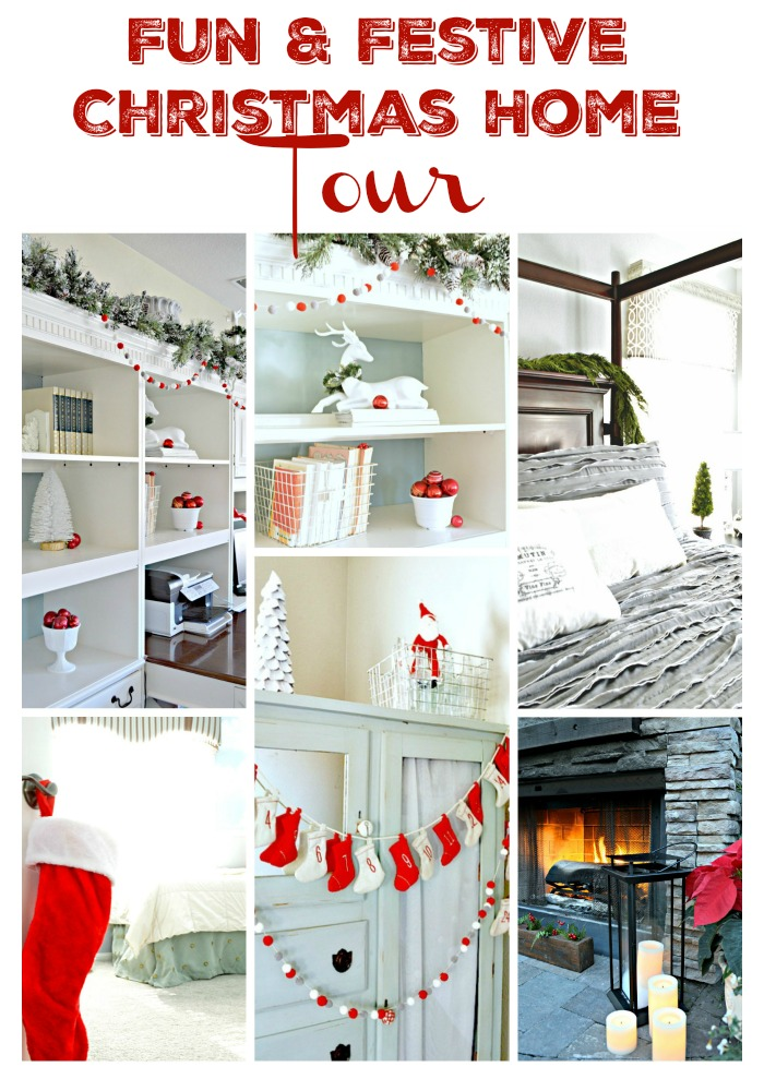 Fun and Festive Christmas Home Tour with lots of fun colors!