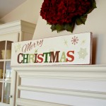 DIY Easy Wooden Christmas Sign