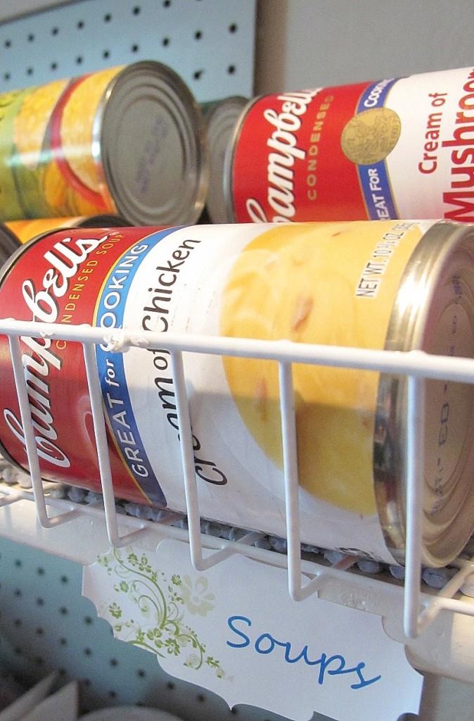 dollar store canned food organization