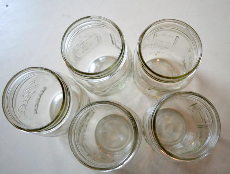 Use Mason Jars for cheap organization