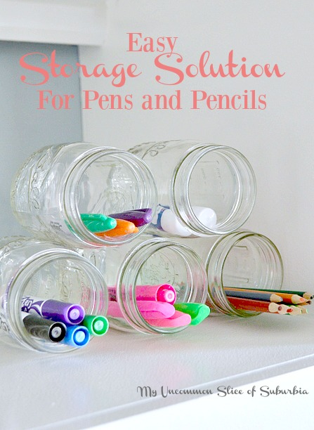 Easy Storage Solution for Pens and Pencils