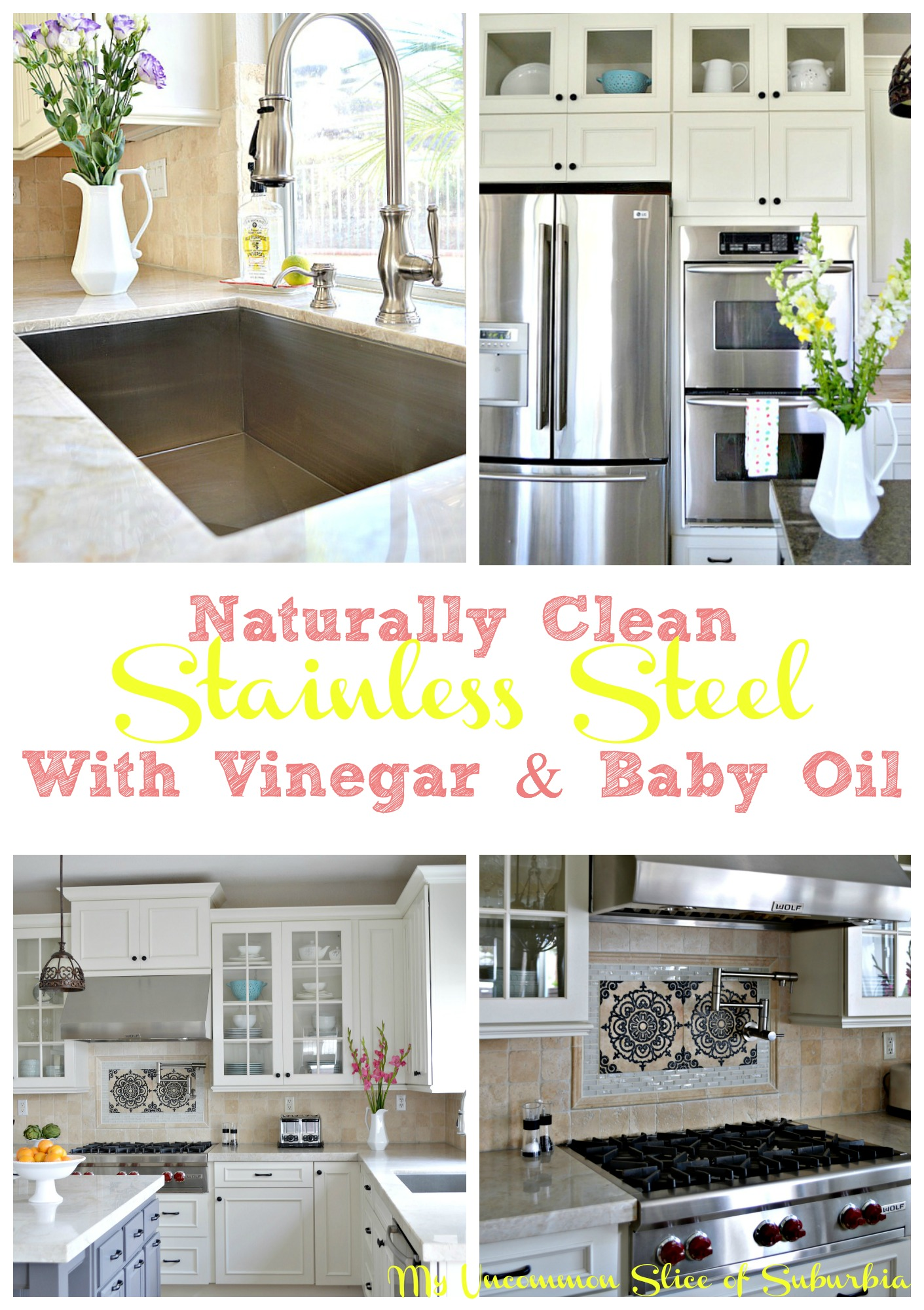 Naturally clean any stainless steel appliance