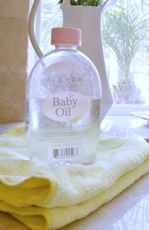 Polish Stainless Steel using baby Oil