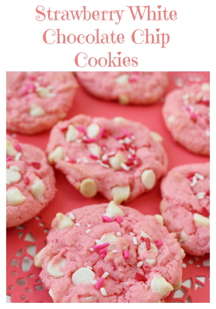 Yummy Recipe For Strawberry White Chocolate Chip Valentines Cookies