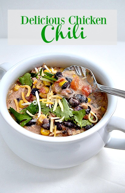 A delicious recipe for chicken chili, the kids loved it!