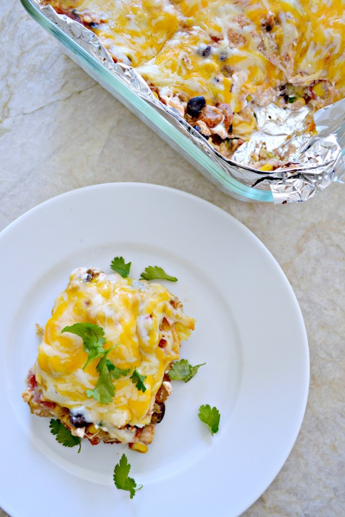 Chicken Chili Casserole, perfect recipe for using up that left over chili!