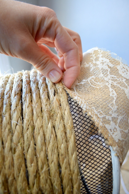How to make sisal rope nautical trash can step by step tutorial