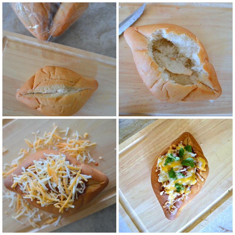 How to make a easy chili cheese sandwich