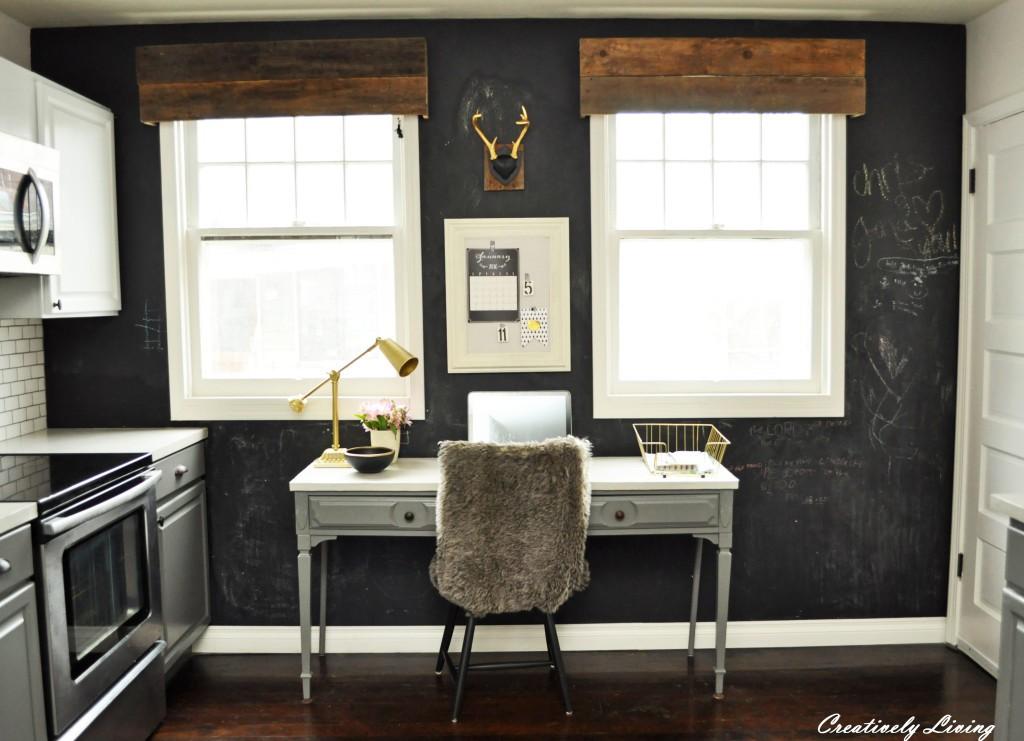 Kitchen-Office-Area-Chalkboard-Wall-Rustic1-1024x741