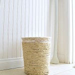 Make A Nautical Trashcan With Rope