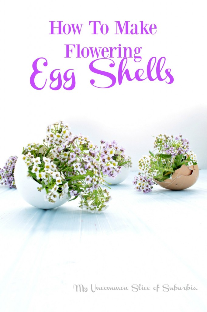 Step by step tutorial on how to make flowering egg shells. Such a great idea for an Easter Tablescape!