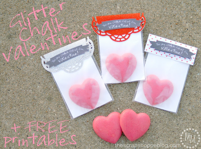 glitter chalk valentines 1