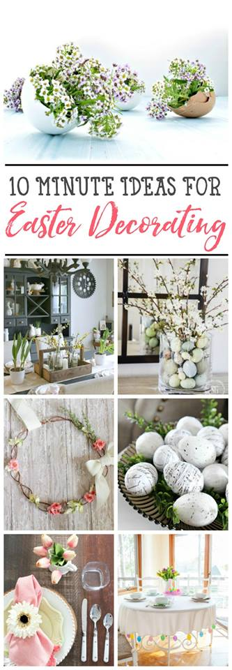 10 minute easter decor ideas!